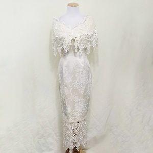 Jessica Mcclintock vintage wedding dress lace 4